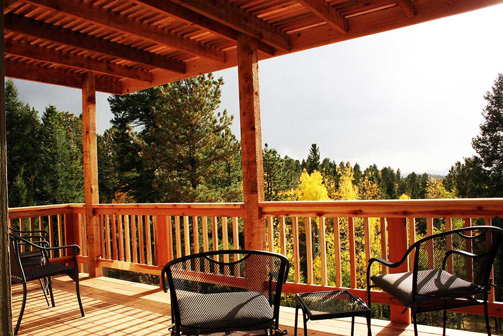 Custom Wood Decks, Custom Redwood Decks, Woodland Park, Colorado, Mountain High Creations