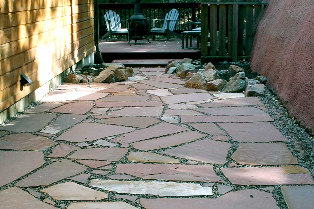 Stepping Stones, Flagstone Stepping Stones, Natural Landscape, Woodland Park, Mountain High Creations, Flagstone Patio