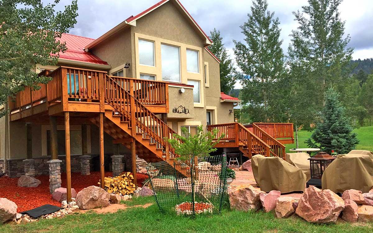Custom Decks, Custom Redwood Decks, Woodland Park, Colorado, Mountain High Creations